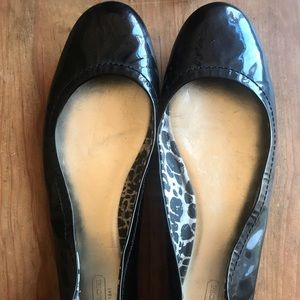 Coach patent leather ballet flats